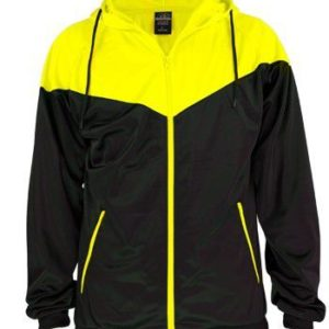 10946 300x300 - Urban classics Kids Arrow Sports Zip Hoody - 10 - čierno-žltá