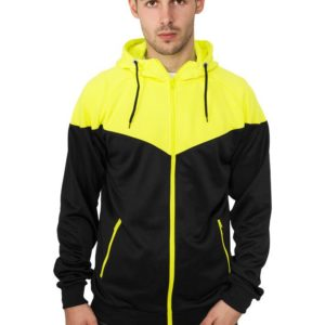 Urban Classics Neon Arrow Zip Hoody Black Yellow – L – čierno-žltá