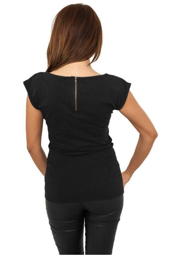 Urban Classics Ladies Backzipper Tee Black - čierna