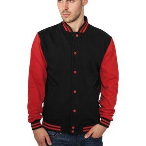 21701 300x300 - Urban Classics 2-tone College Sweatjacket Blk Rd - čierno-červená