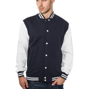 21723 300x300 - Urban Classics 2-tone College Sweatjacket Nvy Wht - tmavomodro - biela