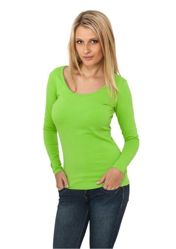 24896 600x847 - Urban Classics Ladies Basic L-S Tee Limegreen - zelená