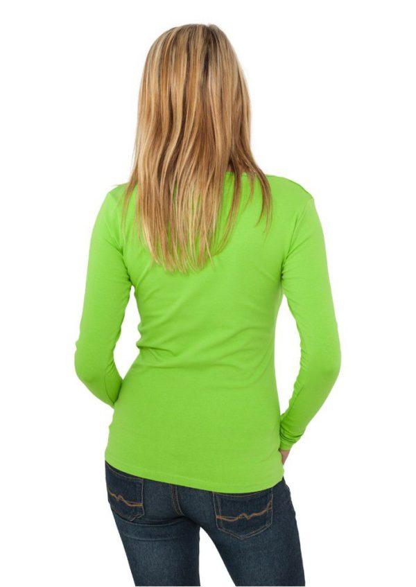 24897 600x847 - Urban Classics Ladies Basic L-S Tee Limegreen - zelená