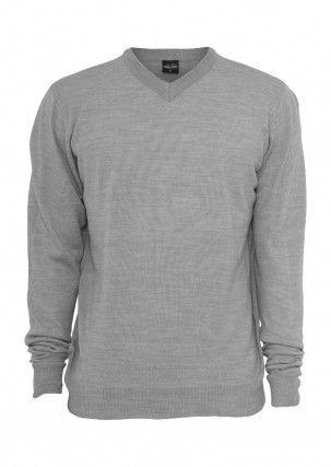 Urban Classics Knitted V-Neck Grey – šedá