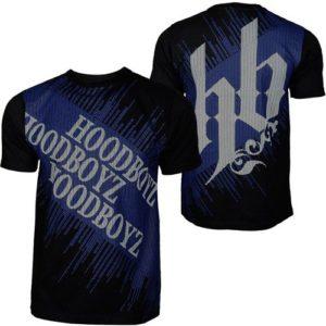Hoodboyz Carpet T-shirt Black Blue – čierno-modrá