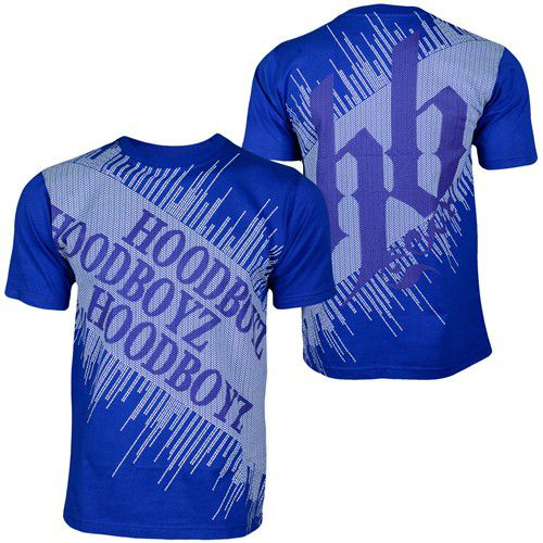 Hoodboyz Carpet T-shirt Blue Blue  – modro-modrá