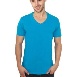 Urban Classics Basic V-Neck Tee Turquoise – tyrkysová