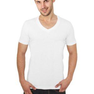 Urban Classics Basic V-Neck Tee White – biela