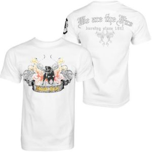 Hood Star Dog In Fire Men T-shirt Wht – biela