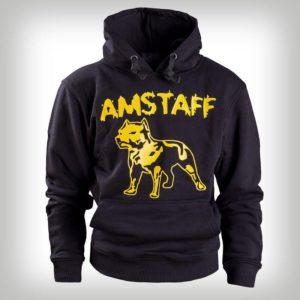 Amstaff Hoody Logo Blk Yell – čierna