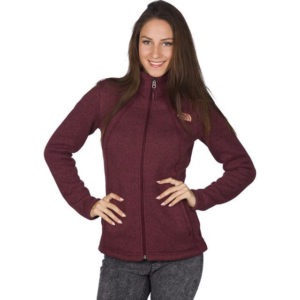 The North Face W Crescent Full Zip HJM – červená