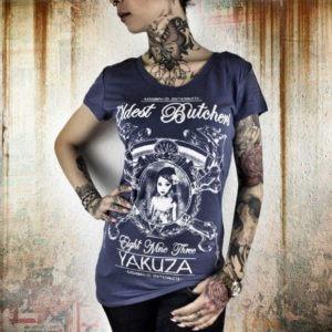 Yakuza dámske tričko Oldest Butchers GSB 8117 velvet morning - modrá