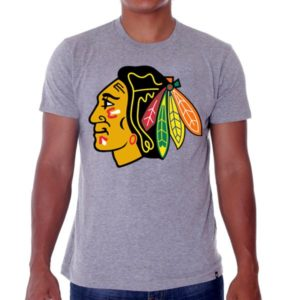 69916 300x300 - 47 Brand Frozen Rope Tee Grey Chicago Blackhawks
