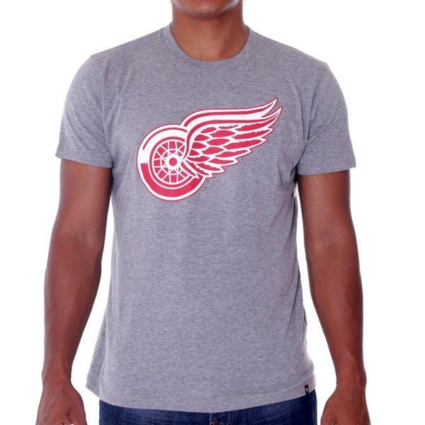 47 Brand Frozen Rope Tee Grey Detroit Red Wings