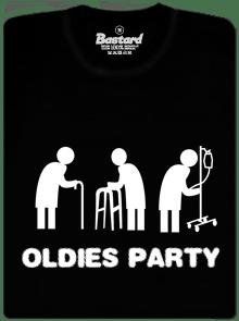 Oldies party čierne pánske tričko