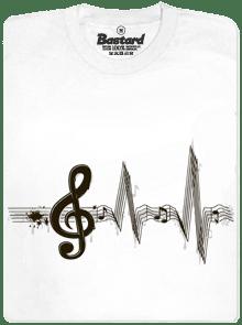 Žijem muzikou bílé pánske tričko