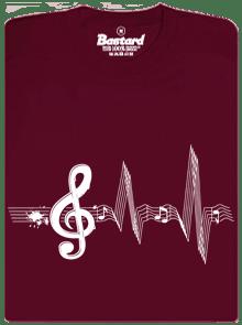 Žijem muzikou vínové pánske tričko