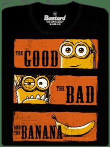 1761 - Hodný zlý a banán pánske tričko