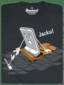 Jacku šedé pánske tričko