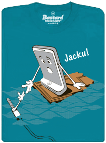 Jacku modré pánske tričko