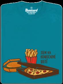 Krabičková dieta modré pánske tričko