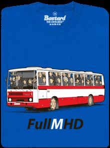 Full MHD modré pánske tričko
