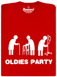 Oldies party červené pánske tričko