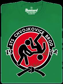 Bastard Slušnej oddíl zelené pánske tričko