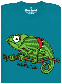 Bastard Chameloun modré pánske tričko – nový strih