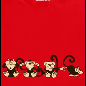 Bastard Opica červené pánske tričko – nový strih