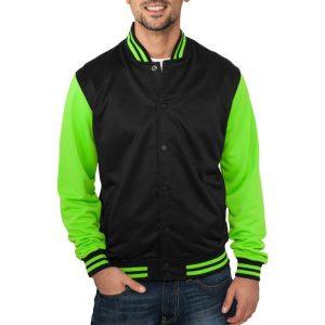 Urban Classics Neon College Jacket – XL / čierno-zelená