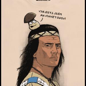 Bastard Vinnetou pánske tričko – nový strih