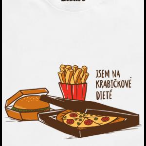 Bastard Krabičková dieta biele pánske tričko – nový strih