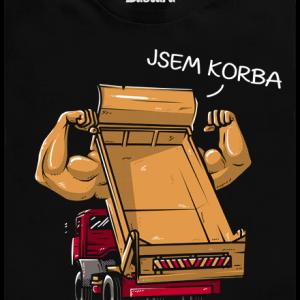 Bastard Korba čierne pánske tričko