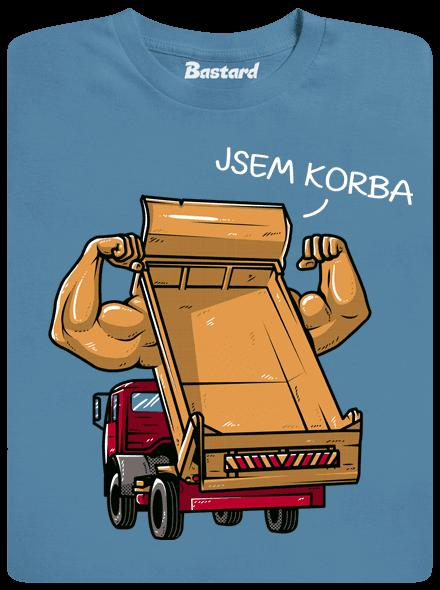 2490 - Bastard Korba modré pánske tričko