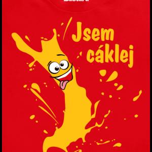 Cáklej červené pánske tričko