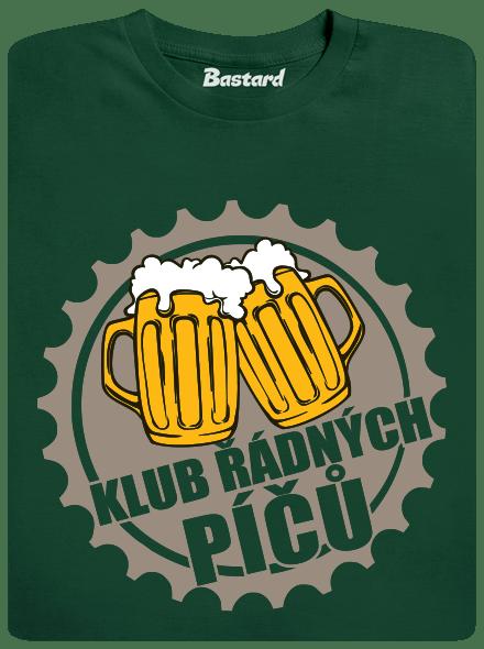 Klub riadnych píčů zelené pánske tričko