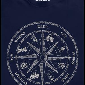 Alkoholický kompas modré pánske tričko